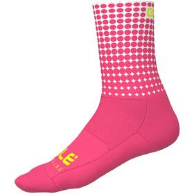Alé Cycling Dots Socks 16cm, flou pink-white